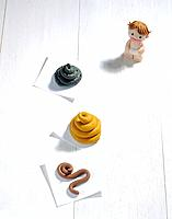 Paper clay toy, baby (thumbnail)