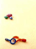 Paper clay toy, colourful background