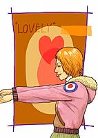 Young man and heart (thumbnail)