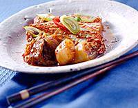 Steamed fish with spicy sauce