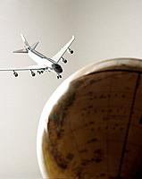 Plane and globe