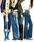 Young women with jeans