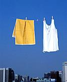 Clothes on clothes line