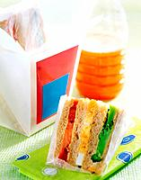Sandwich and juice