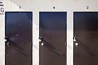 3 locked  locker doors