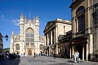 Bath. Abbey Church Yard, Pump Room. Somerset, UK