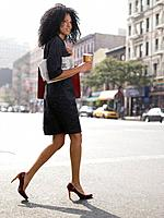 Woman walking to work