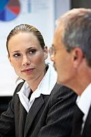 Businesswoman at a meeting