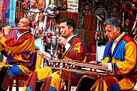 Musicians in traditional clothes, Bukhara, Uzbekistan