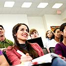 Young Woman in Lecture Hall