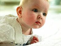 Baby looking pensive