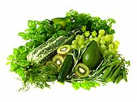 Raw Food, vegetables, Green fruit vegetables and salads