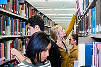 Young People in Library
