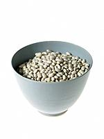 Bowl of white Haricot Beans