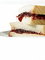 Food _ White Bread Jam Sandwich