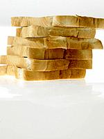 Stack of White Bread slices
