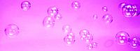 Bubbles with pink background