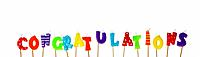 Candle Letters spelling out congratulations (thumbnail)