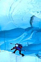 Mountaineer Pika Glacier Alaska Range Denali Natl Park Interior Spring Scenic Portrait