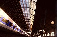 TGV train (High speed train) in station, Gare du Nord station, Paris, France