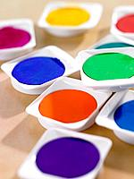 Close_up of watercolor paints
