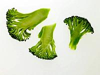 Close_up of slices of broccoli