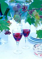 Two Wineglasses, Red Wine