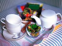 Tea Time Image, High Angle View, In Focus, Out Focus, Soft Focus