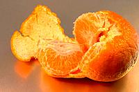 Peeled and Opened Orange