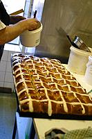 Glazing Hot Cross Buns