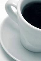 Abstract of a cup of black coffee