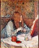 Ü Kunst, Toulouse_Lautrec, Henri Marie Raymond de 24.11.1864 _ 9.9.1901, Gemälde La toilette Museum Albi toulouse lautrec, franz., impressionismus jug...
