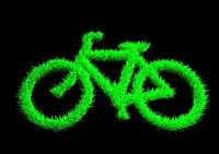 Bicycle made of grass