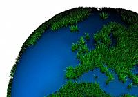 Grass covered globe