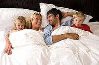 A family in bed