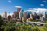 Skyline of downtown, Calgary, Alberta, Canada