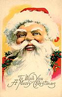 Vintage Christmas postcard of Santa Claus