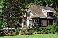 France, Europe, Bas_Rhin, Alsace, Strasbourg, Strassburg, Restaurant Burehiesel, Parc de l´Orangerie, Park, trees, pla