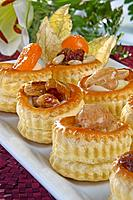 Various cream Vol au Vent pastries