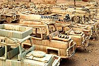 4x4 four wheel drive vehicles hand made from woven grass in Malawi
