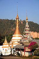 Thailand, Mae Hong Son, Wat Jong Klang buddhist temple