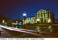 Portugal - Madeira - Funchal - Praca do Municipio - Igreja do Colegio (thumbnail)