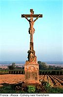 France _ Alsace _ Calvary near Kientzheim