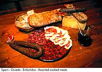 Spain - Ouiedo - Embutidos - Assorted cooked meats Spain (thumbnail)