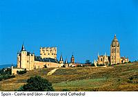 Spain _ Castilla and Leon _ Segovia _ Alcazar and Cathedral Spain