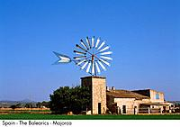Spain _ The Balearics _ Majorca _ Wind Turbine Spain