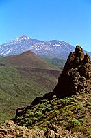 Spain _ Canary Islands _ Tenerife _ teide from the road of Masca
