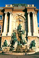 Hungary _ Buda _ Royal Castle _ King Mathias Fountain