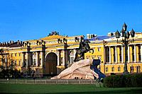 Russia _ St petersburg _ The Senate and Peter the Great Statue