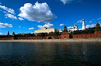 Russia _ Moscow _ Kremlin Wall on the Moskova